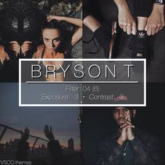 "348 curtidas, 19 comentários - vsco themes (@vsco.themes) no Instagram: ""B R Y S O N  T  #vtpaid - Requested by @wavzz_ for Bryson Tiller's theme. - This filter looks good…"""