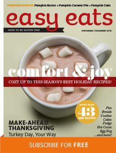 Easy Eats; Digital Magazine. Great #glutenfree resource!