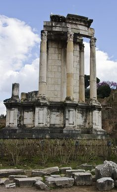 Temple of Vespa, Roman Forum. Rome, Italy. WAY more impressive in person! I can check this one off my list!