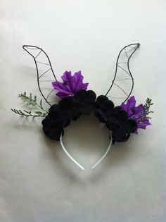 Maleficent Floral Mickey Ears