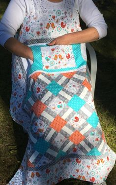 Handmade Wheelchair Lap Quilts with Pockets from NH - Carolyn's Homesewn