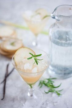 Pear, Rosemary & Lemongrass Cocktail {recipe via Green Kitchen Stories}