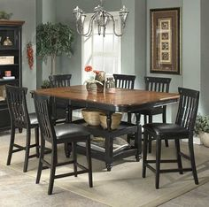 Clearbrook 7 Pc Counter Double Butterfly Storage Dining Set-----i think this is the one!!!