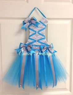 Hey, I found this really awesome Etsy listing at https://www.etsy.com/listing/222333749/tutu-dress-hair-bow-holder-turquoise