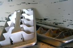Aluminum Ice Cube Trays made in Italy Set by VintageShoppingSpree, $22.00