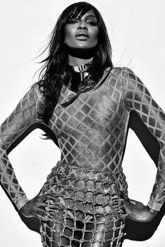 Naomi Campbell by Steven Klein for Balmain, S/S 2016