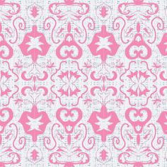 salt water fountain damask (sunset pink) fabric by fabricfarmer_by_jill_bull on Spoonflower - custom fabric
