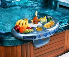 Floating Pool Bar Float Tray Spa Party Inflatable Hot Tub Snacks Drink Holder for sale online Hot Tub Bar, Hot Tubs, Mini Bars, Hot Tub Accessories, Hot Tub Patio, Spa Bar, My Pool, Pool Fun, Pool Floats