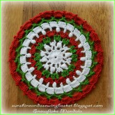 Snowflake Mandala  ~ free pattern ᛡ