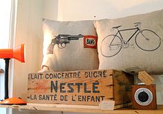 Ancienne caisse en bois publicitaire Nestlé