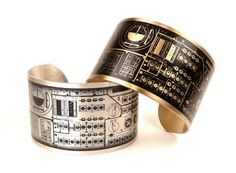 Items similar to Apollo Mission Control Panel Cuff, Space Jewelry, Science Geekery, Astronomy, NASA on Etsy Nerd Chic, Science Jewelry, Space Jewelry, Mission Control, Apollo Missions, Space Fashion, Control Panel, Astronomy, Nasa