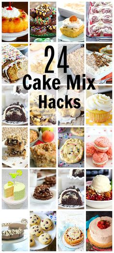 cake mix desserts 24 Cant Miss Cake Mix Hacks Parade Cake Mix Desserts, Cake Mix Cookies, Just Desserts, Delicious Desserts, Cake Mix Cupcakes, Sandwich Cookies, Party Desserts, Cake Batter, The Cake Mix Doctor