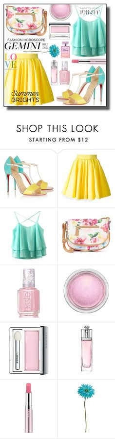 """""""Gemini - June 15"""" by asiyaoves ❤ liked on Polyvore featuring Christian Louboutin, Philipp Plein, Apt. 9, Essie, MAC Cosmetics, Clinique, Christian Dior, RMK, Allstate Floral and fashionhoroscope"""