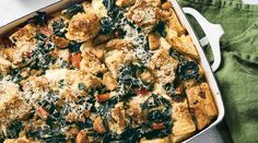 OMG, dinner will be served!!!!   Sausage and Swiss Chard Strata