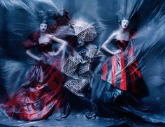 Aya Jones, Xiao Wen Ju, Harleth Kuusik, Yumi Lambert, Nastya Sten by Tim Walker for Vogue UK March 2015