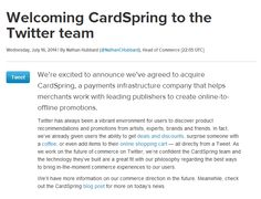 Twitter Acquired CardSpring To Enable E-Commerce | Pinoy Tech Talk - Tech News, Leaks and Rumours