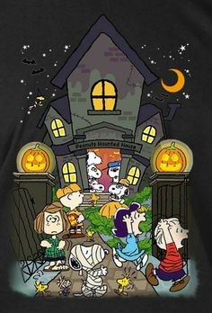 Charlie Brown Snoopy & The Peanuts Gang - Haunted House Snoopy Halloween, Diy Halloween, Charlie Brown Halloween, Great Pumpkin Charlie Brown, Charlie Brown Christmas, Charlie Brown And Snoopy, Halloween Pictures, Holidays Halloween, Vintage Halloween