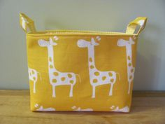 LARGE Fabric Organizer Basket Storage Container door hipbabyboutique, $18.00