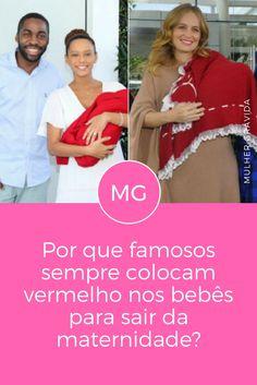 Enxoval de bebê vermelho | Por que famosos sempre colocam vermelho nos bebês para sair da maternidade? | Cada cor tem um significado. Descubra!