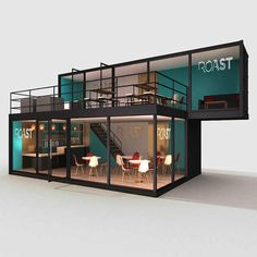 Creative Spaces launch Café in a Crate shipping container cafe - GTMS Shipping Container Cafe, Container House Plans, Container Cabin, Cargo Container, Cafe Interior Design, Cafe Design, Container Coffee Shop, Casas Containers, Container Buildings
