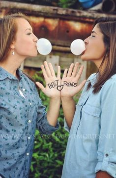 Because best friends don't let each other do them alone. | 37 Impossibly Fun Best Friend Photography Ideas