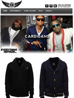 For those occasion when hoodies are just too hood.  Step your swag up and smarten up your look.   Rock a cardigan and get your grown man on.   Great Xmas gift.   #giftsformen #knitwear #jumpers #xmas #christmas #designerclothing   http://www.everythinghiphop.com/Cardigans/