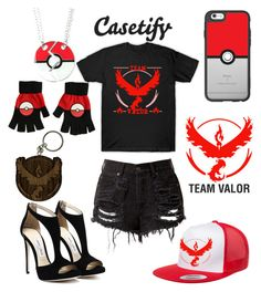 """""""Case Group Challenge : Pokemon Go Themed, my Team, Team Valor FTW"""" by maddog3861 ❤ liked on Polyvore featuring Casetify and Valor"""