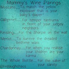 Mommy's Wine Pairings