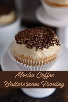 All the smooth mocha coffee flavor of your favorite drink combined with creamy butter and sugar for the ultimate frosting. Pairs well with vanilla or chocolate cakes and cupcakes, or top your favorite sugar cookie for a pop of java flavor. Coffee Frosting Recipe, Coffee Icing, Mocha Frosting, Coffee Buttercream, Coffee Cupcakes, Mocha Cupcakes, Frosting Recipes, Buttercream Frosting, Cupcake Recipes