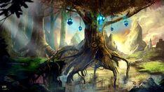 Fonds d'écran Fantasy et Science Fiction > Fonds d'écran Paysages Fantasy Arbre par wind57 - Hebus.com