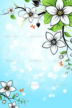 Realistic Graphic DOWNLOAD (.ai, .psd) :: http://jquery-css.de/pinterest-itmid-1006937097i.html ... Flower Background ...  art, backdrop, background, blossom, blue, bud, butterfly, clean, design, floral, flower, flowers, frame, fresh, healthy, leaf, leaves, nature, sky, space, sparkle, spring, summer, vector, white  ... Realistic Photo Graphic Print Obejct Business Web Elements Illustration Design Templates ... DOWNLOAD :: http://jquery-css.de/pinterest-itmid-1006937097i.html