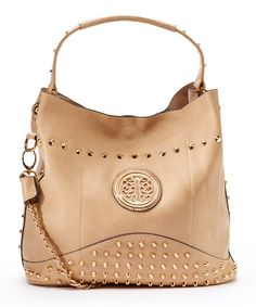 Look at this MKF Collection Beige Obsedia Hobo on #zulily today!