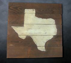 Rustic Planked Texas Wall Art by RusticPost on Etsy, $125.00