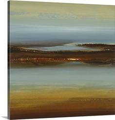 Lisa Ridgers Solid-Faced Canvas Print Wall Art Print entitled Zen Land, None Big Canvas Art, Abstract Canvas Art, Canvas Art Prints, Painting Prints, Canvas Wall Art, Framed Prints, Canvas Size, Art Paintings, Thing 1