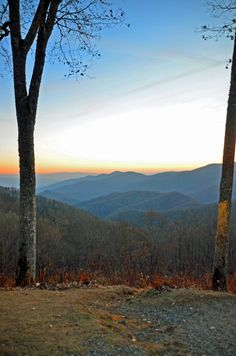 Newfound Gap Road overlook of the Great Smoky Mountains