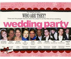 Scrapbook Photos of the Wedding Party  Design by Angela Marvel ~ good idea for wedding scrapbook page