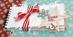 """Le """"December Daily"""" album de Leeann Pearce. J'adore les numéros qui dépassent de la couverture."""