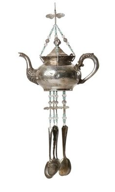 Making this silver tea pot wind chime