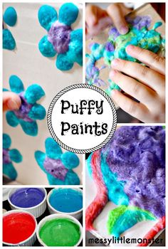 Messy Little Monster: Homemade microwave puffy paint recipe (fun process art painting technique for kids)