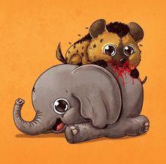La adorable cruda realidad del mundo animal