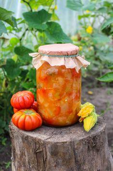 Leczo z cukinii na zimę - sprawdzony przepis - Katarzyna Rzepecka Ketchup, Beets, Soups And Stews, Preserves, Carrots, Food And Drink, Gluten Free, Pumpkin, Jar