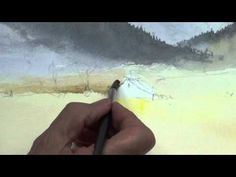 David Bellamy Watercolour Demonstration - Brecon Beacons - YouTube