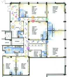 Daycare center blueprints floor plan for mindexpander day care childcare 5016 floor plan rendered malvernweather Image collections
