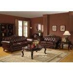 $3,499.00 Brown Leather Sofa Set