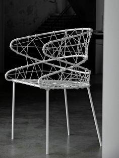 #chair with armrests FLUXUS 790 by TEKHNE   #design Roberto Semprini #white @Tekhne