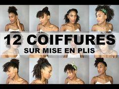 12 Coiffures Simples et Rapides Sur Cheveux Bouclés / Afro (Flexi-rods) - YouTube