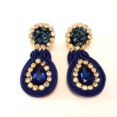 Ohrringe/Earrings/Pendientes Soutache Modelo: 003-A