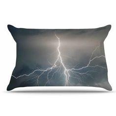 East Urban Home Lightning Storm Pillow Sham Size: Standard
