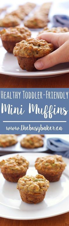 These Healthy Toddler-Friendly Mini Muffins are the perfect snack for kids or health-conscious adults! Recipe from thebusybaker.ca!