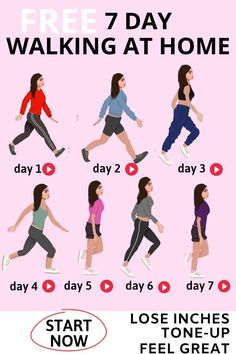 WEIGHT LOSS PLAN - 7 Day Free Home Fitness Exercise Video Plan Free 7 Day at Home Weight-Loss Plan that will tone you up, increase your health and melt off inches Easy Weight Loss Tips, Weight Loss Workout Plan, Weight Loss For Women, Best Weight Loss, 7 Day Workout Plan, Lose Weight In A Week, Diet Plans To Lose Weight, Weight Loss Plans, How To Lose Weight Fast